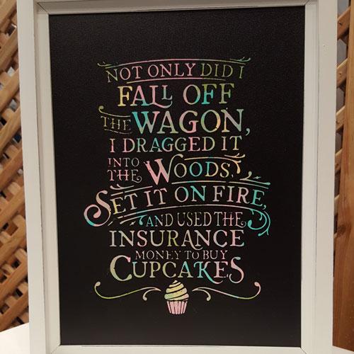 Sign: Cupcake Wagon