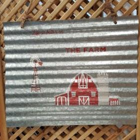 Sign: Life on the Farm