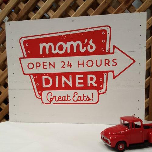 Sign: Mom's Diner