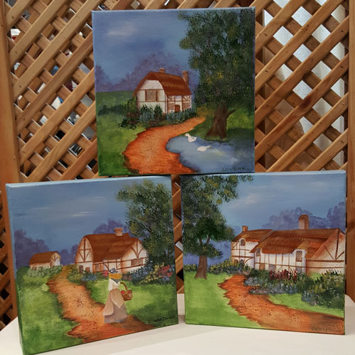 "Folk Art ""The Cottages"" - trio"