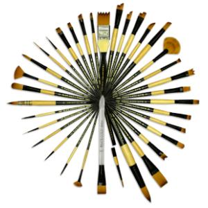 Black Gold Art Brushes