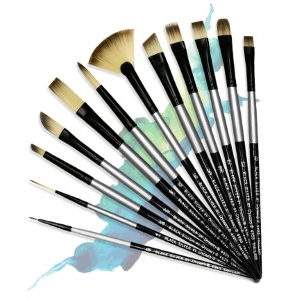 Black Silver Art Brushes