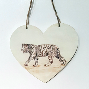 Tiger Heart Ornament