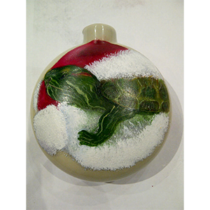 Turtle Glass Bulb Ornament