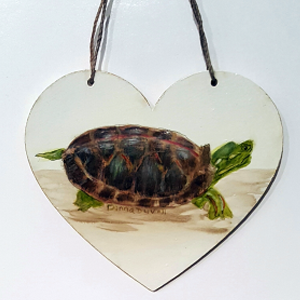Turtle Heart Ornament
