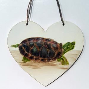 Turtle Heart Ornament